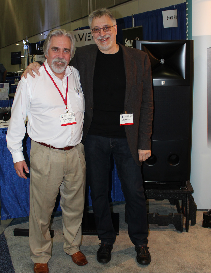 Frank Filipetti and Isolation stand for JBL M2 Monitors