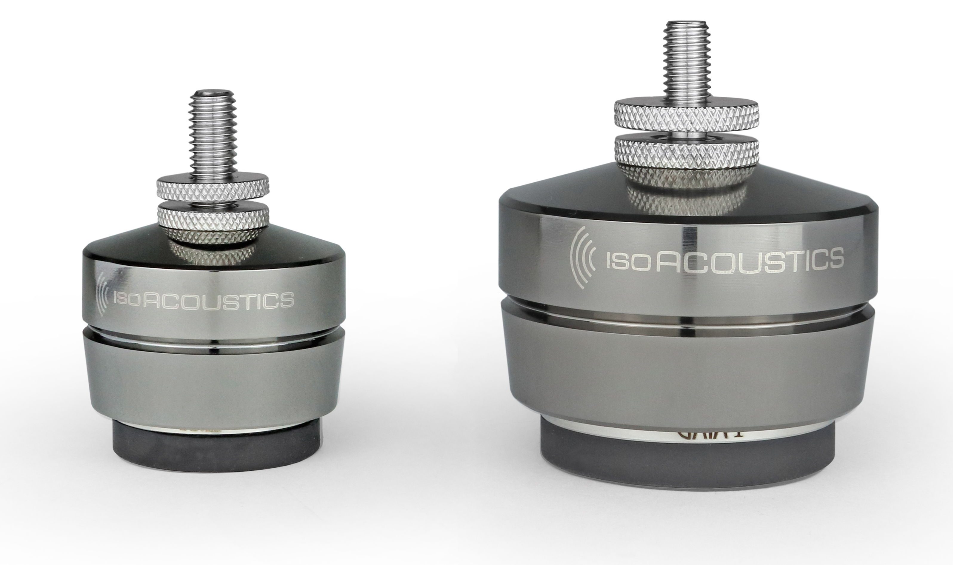 IsoAcoustics GAIA I & GAIA III Isolation for Floor Standing Speakers.