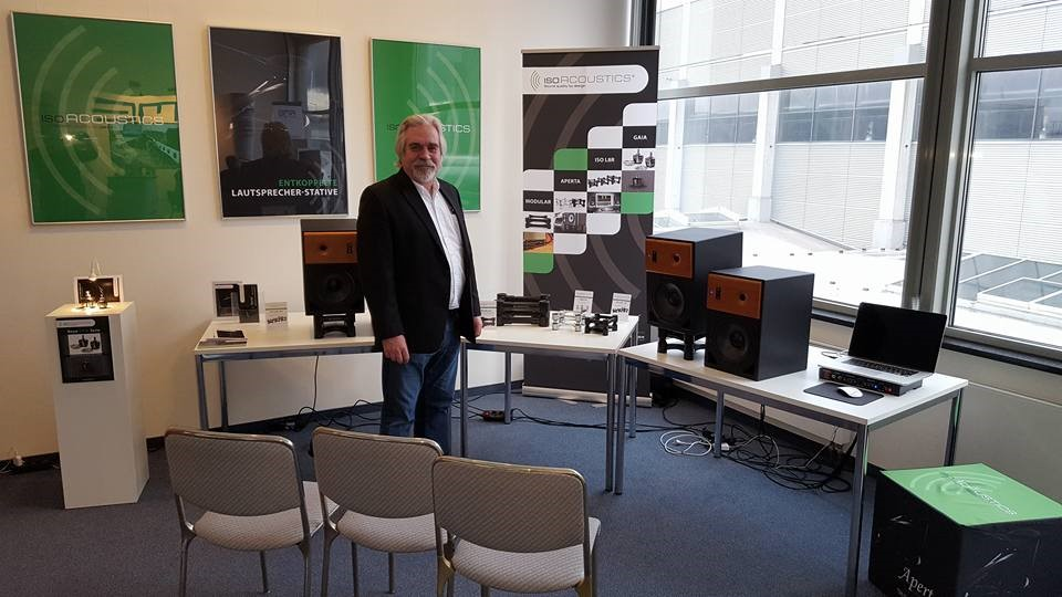 IsoAcoustics Exhibiting at the 2016 Tonmeistertagung show in Cologne, Germany