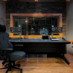 New Five Points Recording's control room is anchored with PhantomFocus Monitors featuring integrated IsoAcoustics Isolators